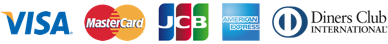 VISA/MasterCard/JCB/AMERICANEXPRESS/DinersClub